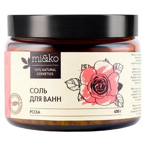 MI&KO Соль для ванн Роза, 400 г