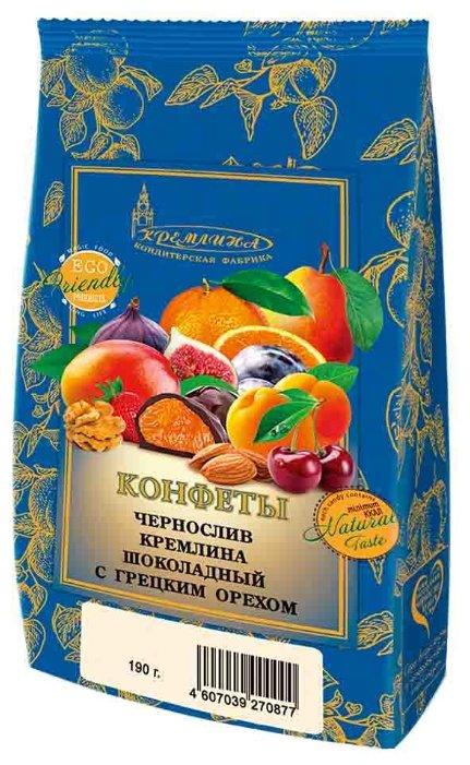 Конфеты Кремлина чернослив в шоколаде с грецким орехом