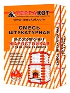 Штукатурка ТЕРРАКОТ жаростойкая, 25 кг — купить по выгодной цене на Яндекс.Маркете в Сызрани