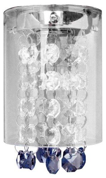 Встраиваемый светильник De Fran FT 876 bbk, хром / дымчатые кристаллы в стекле