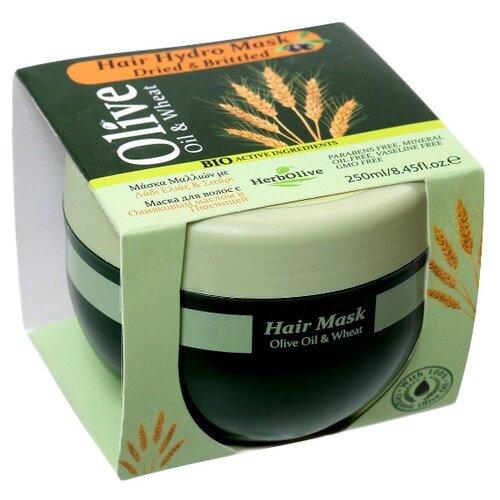 HerbOlive Маска для волос с пшеницей для сухих волос увлажнение и питание, 250 млМаски и сыворотки<br>