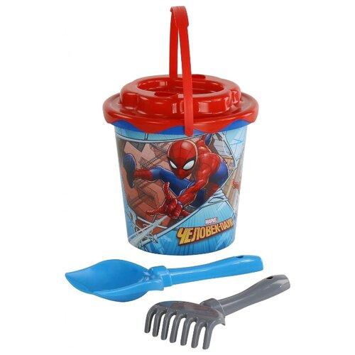 Набор Полесье Marvel Человек-Паук №11 65841 голубой/фиолетовый/серый полесье набор игрушек для песочницы полесье marvel человек паук 11 4 предмета