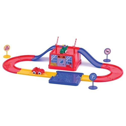 Купить Viking Toys Домик в ведерке 45540 красный/желтый/синий, Детские парковки и гаражи
