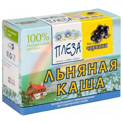 Фото - ПЛЕЗА Каша льняная вкус Черника (коробка), 200 г беби ситтер каша ячменная с 4 месяцев 200 г
