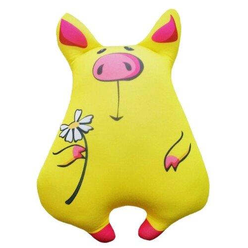 Купить Игрушка-антистресс Мнушки Свинка милашка желтая 34 см, Мягкие игрушки