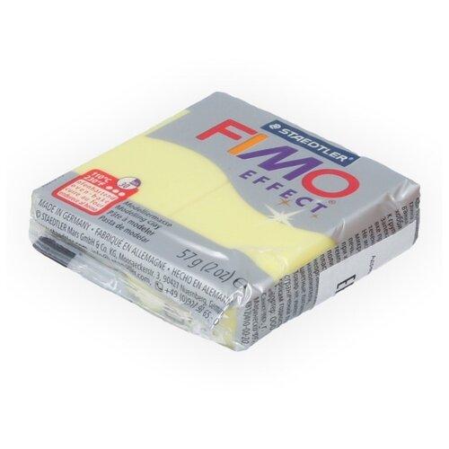Купить Полимерная глина FIMO Effect запекаемая полупрозрачный желтый (8020-104), 57 г, Глина