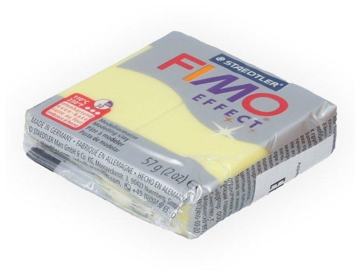 Полимерная глина FIMO Effect запекаемая полупрозрачный желтый (8020-104), 57 г