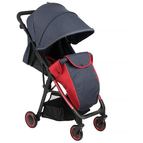 Прогулочная коляска Corol L-7 джинс/красный самокат corol l 304 pink