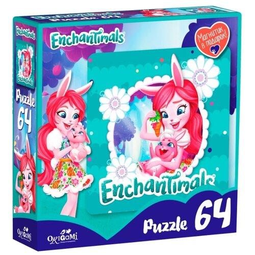 Купить Пазл Origami Enchantimals Бри Кроля и Твист (03556), 64 дет., Пазлы
