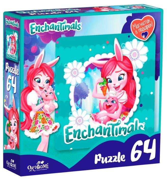 Пазл Origami Enchantimals Бри Кроля и Твист (03556), 64 дет.