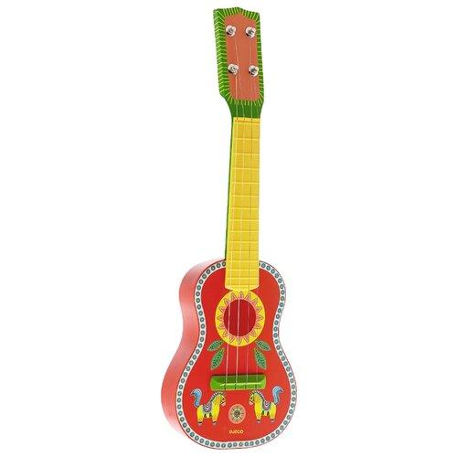 DJECO гитара Animambo 06013 красный/желтый/зеленый djeco маракас animambo