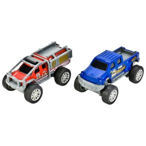 Купить Набор машин ТЕХНОПАРК из двух моделей (90113-1RX2) 9 см синий/оранжевый, Машинки и техника