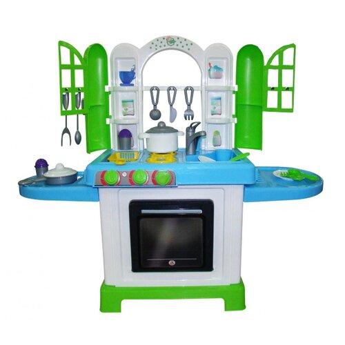 Купить Кухня Palau Toys NATALI №3 43412 белый/голубой/зеленый, Детские кухни и бытовая техника