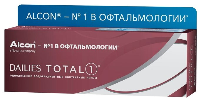 Контактные линзы Dailies (Alcon) Total1 (30 линз) R 8,5 D -4