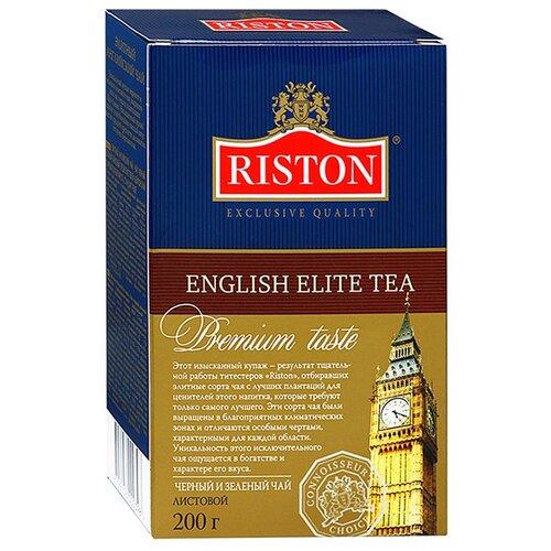 Чай Riston English elite tea, смесь зеленого и черного чая, 200 г hilltop чайные истории набор черного и зеленого листового чая шкатулка