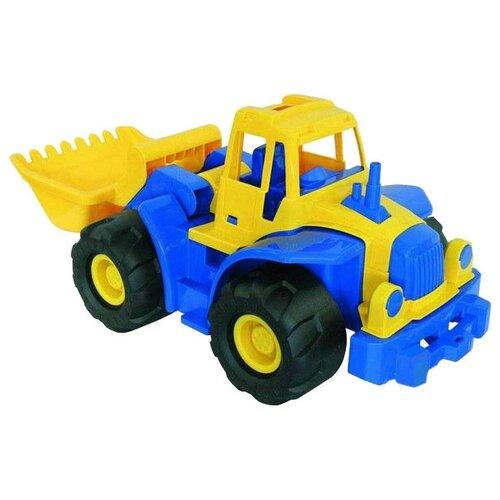 Трактор Нордпласт Богатырь с грейдером (099) 65 см
