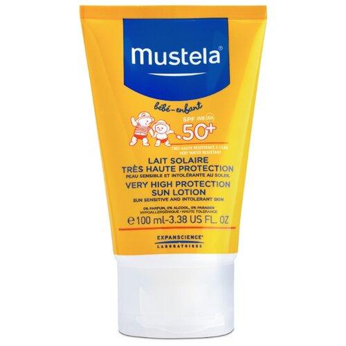 Mustela Детское солнцезащитное молочко для лица и тела SPF 50 100 мл biosolis sun milk spf 30 солнцезащитное молочко для лица и тела spf 30 100 мл
