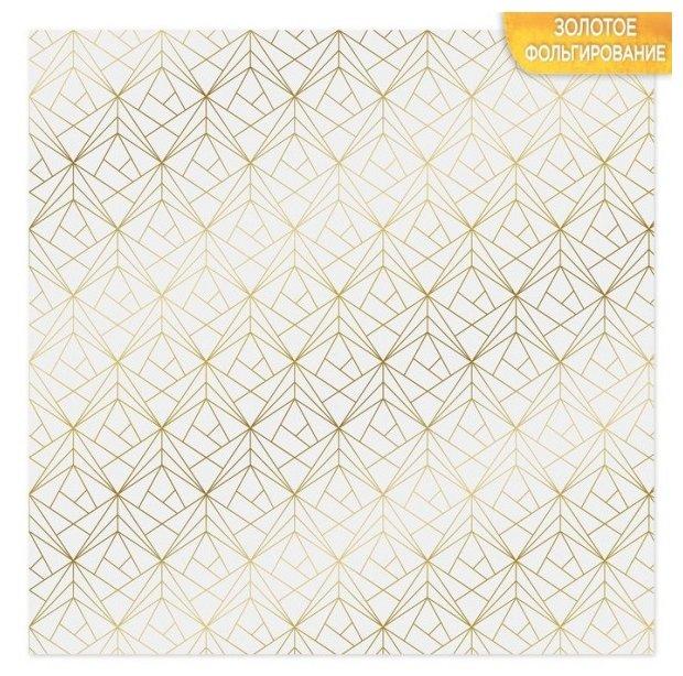 Бумага Арт Узор 30.5x30.5 см, 10 листов, Грани