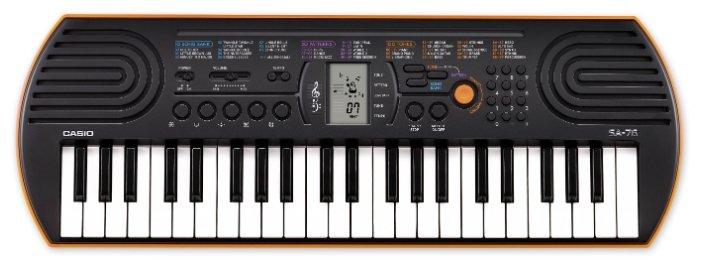 Синтезатор CASIO SA-76, оранжевый
