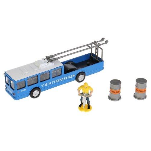 Троллейбус ТЕХНОПАРК Техпомощь (SB-17-80WB) 16.5 см синий/серыйМашинки и техника<br>