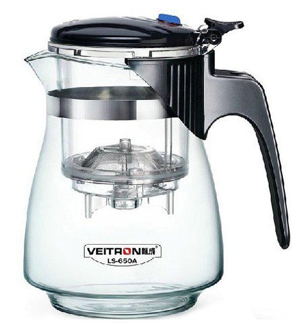 Стоит ли покупать Veitron Чайник заварочный стеклянный с кнопкой LS-650A 650 мл, прозрачный/черный - 4 отзыва на Яндекс.Маркете (бывший Беру)