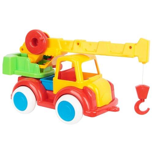 Купить Автокран Форма Детский сад (С-80-Ф) 35 см желтый/красный, Машинки и техника