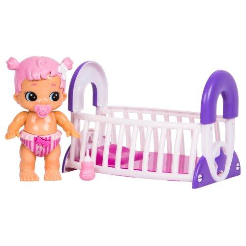 Интерактивная кукла Moose Bizzy Bubs Грейси с кроваткой, 12 см, 28475, Куклы и пупсы  - купить со скидкой