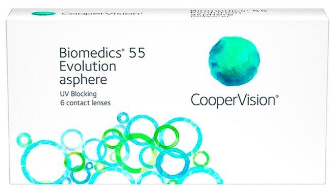 Контактные линзы CooperVision Biomedics Ежемесячные, 6 шт. -1.50