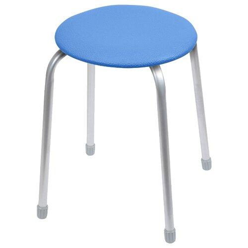 Табурет Nika Классика 2 (ТК02), металл/искусственная кожа, цвет: синий