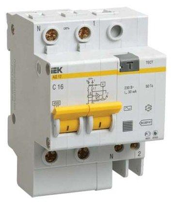 Дифференциальный автомат IEK АД-12 2П 30 мА C 63 А