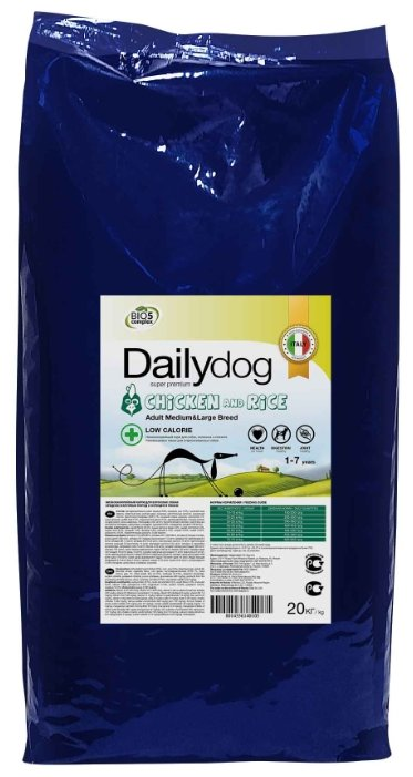 Корм для собак Dailydog Adult Medium and Large Breed Low Calorie chicken and rice