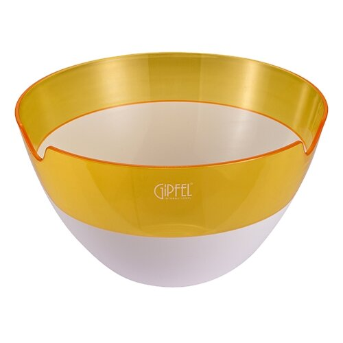 GIPFEL Салатница с двойными стенками Amadeus 16.3 см белый/желтый салатница с двойными стенками amadeus 16 3х16 3х8 см зеленая 9441 gipfel