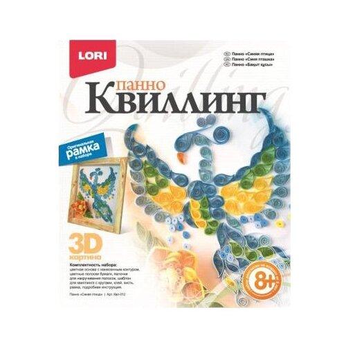 LORI Набор для квиллинга Синяя птица Квл-012 синий/желтый lori набор для квиллинга совушка квл 023 голубой розовый