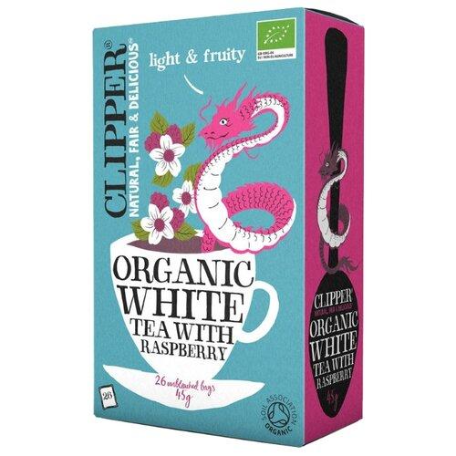 Чай белый Clipper Organic white tea with raspberry в пакетиках, 26 шт.Чай<br>
