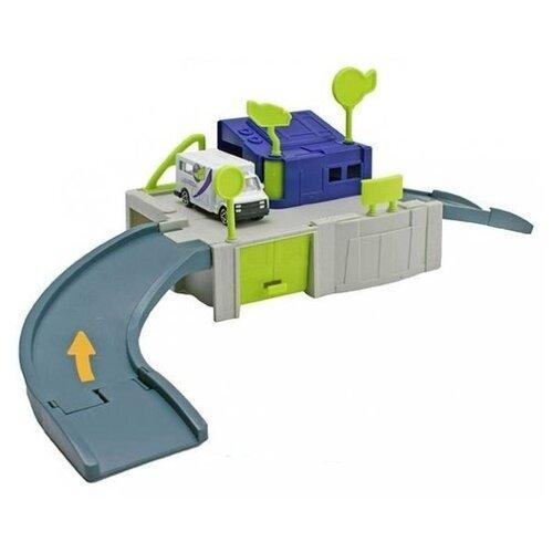 Купить Autotime (Autogrand) Игровой набор Megapolis: Почта 48254 зеленый/серый/синий, Детские парковки и гаражи