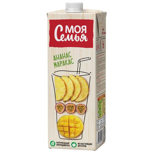Напиток сокосодержащий Моя Семья Ананас-Маракас, 0.95 л