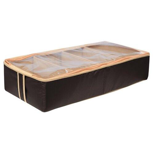 HOMSU Органайзер для обуви на 4 бокса Costa-Rica бежевый/коричневый органайзер для обуви 66х63х11 homsu органайзер для обуви 66х63х11