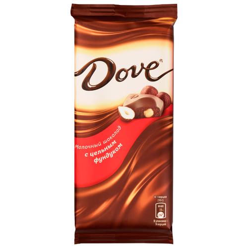 Шоколад Dove молочный с цельным фундуком, 90 г