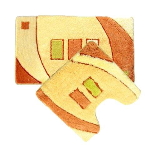 Комплект ковриков IDDIS MID090AS, 50х80 см, 50х50 см бежевый
