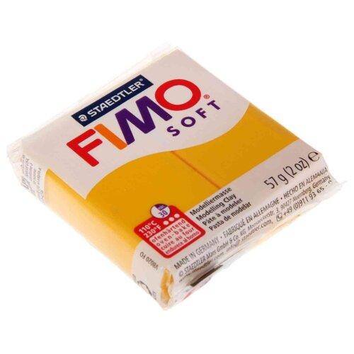 Купить Полимерная глина FIMO Soft запекаемая жёлтый (8020-16), 57 г, Глина