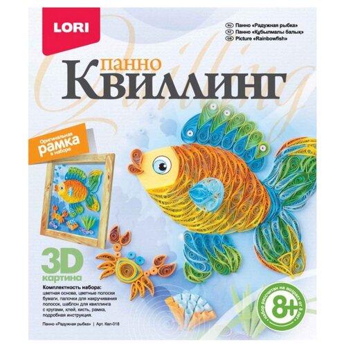 LORI Набор для квиллинга Радужная рыбка Квл-018 голубой / желтый lori квиллинг панно радужная рыбка