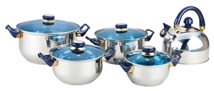 Набор посуды BEKKER BK-4605 Classic, 9 предметов