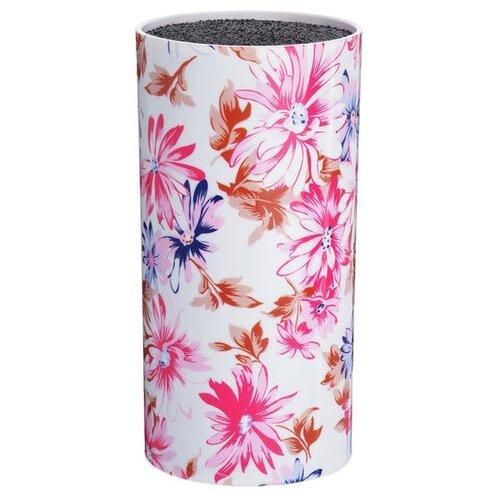 MAYER & BOCH Подставка для ножей Цветы белый / малиновый