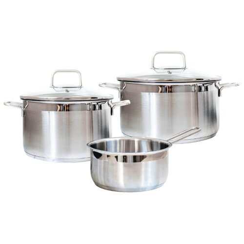 Набор посуды Swiss Diamond Premium Steel SD SET L3 5 пр. серебристый сотейник swiss diamond xd 66283ic