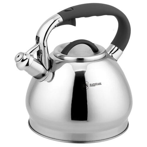 Rainstahl Чайник 7625-30RS\WK 3 л, стальной/черный rainstahl чайник 7625 30rs wk 3 л стальной черный