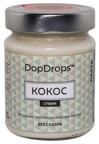 DopDrops Паста ореховая Кокос (стевия) стекло