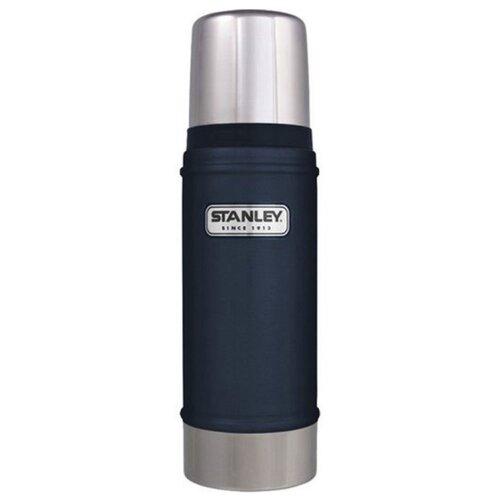 Классический термос STANLEY Classic Vacuum Insulated Bottle (0,47 л) темно-синий термос stanley classic vacuum bottle 0 75л синий поливные капельницы в подарок