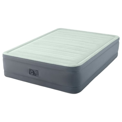 Надувная кровать Intex PremAire Elevated Airbed (64906) светло-темно-серыйНадувная мебель<br>