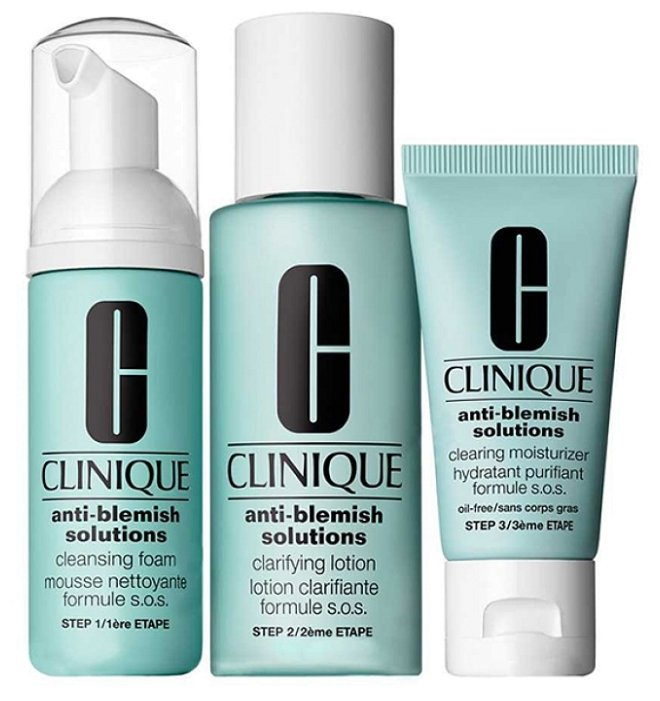Clinique Набор для ухода за проблемной кожей Anti-Blemish Solutions 3-Step System