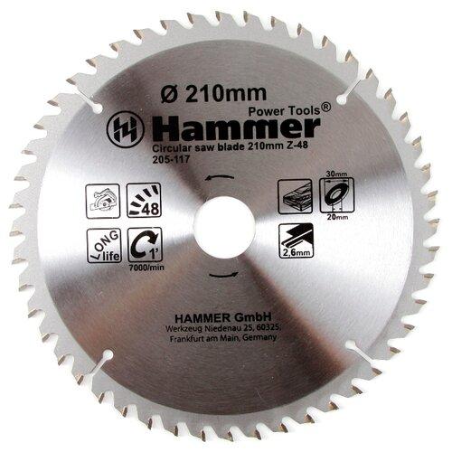 Пильный диск Hammer Flex 205-117 CSB WD 210х30 мм пильный диск hammer flex 205 106 csb wd 165х30 мм